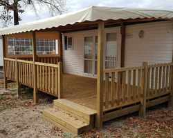 Mobilhome Service - Herm Landes - Terrasse